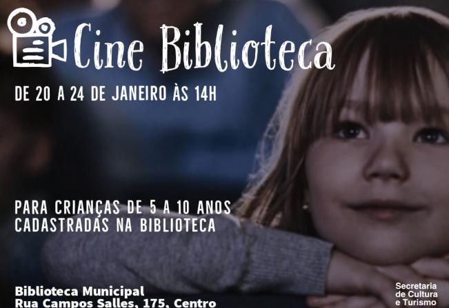 Biblioteca Municipal de Itapetininga promove sessões de cinema para crianças
